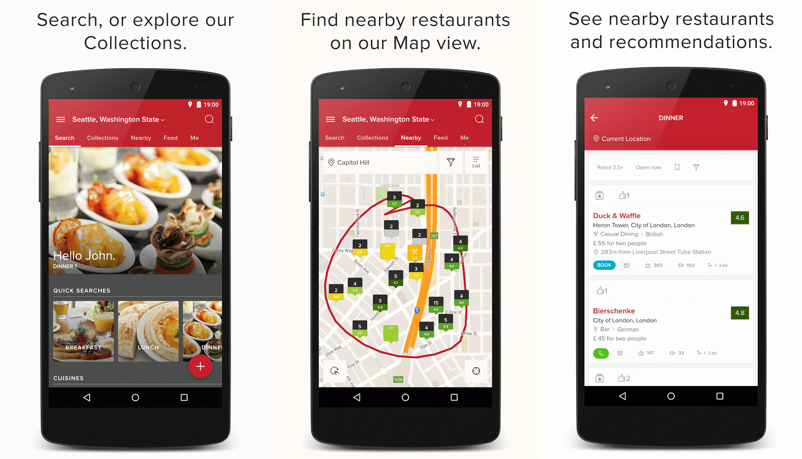 Featured top restaurant finding review android apps