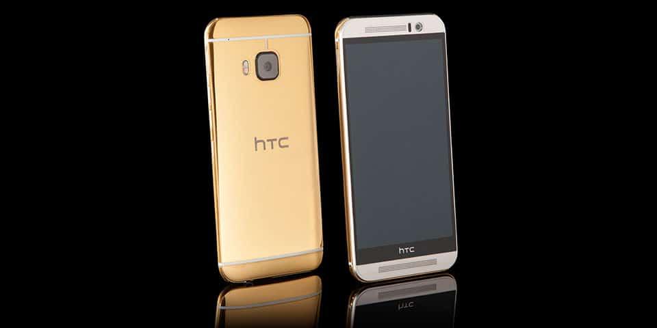 24K Gold HTC One M9 - 1
