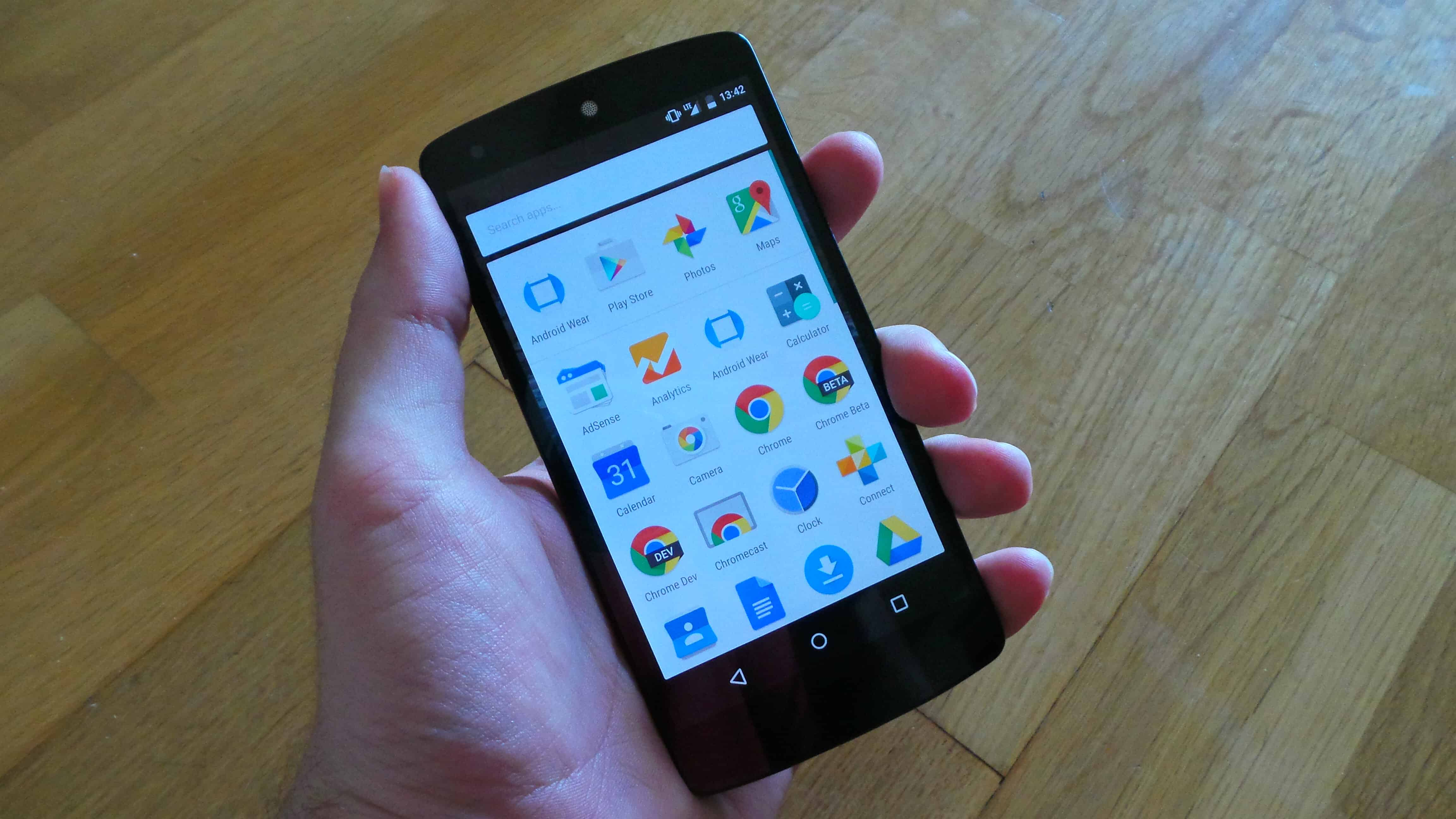 Android M Preview 2 App Drawer