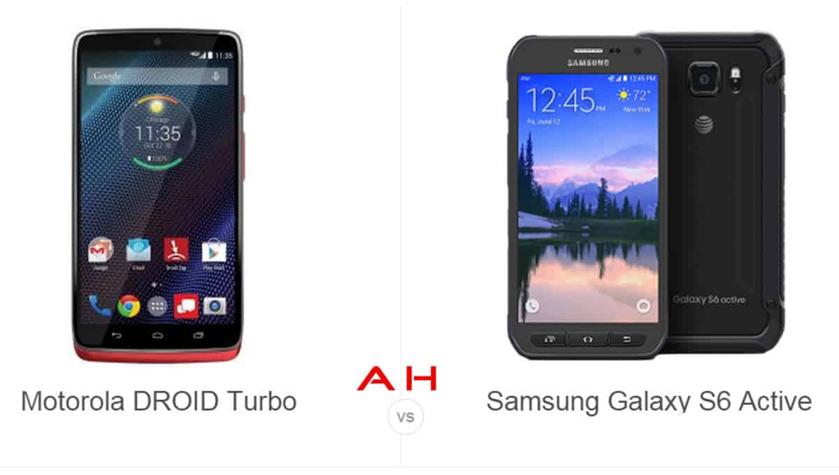 Droid Turbo vs Galaxy S6 Active cam AH