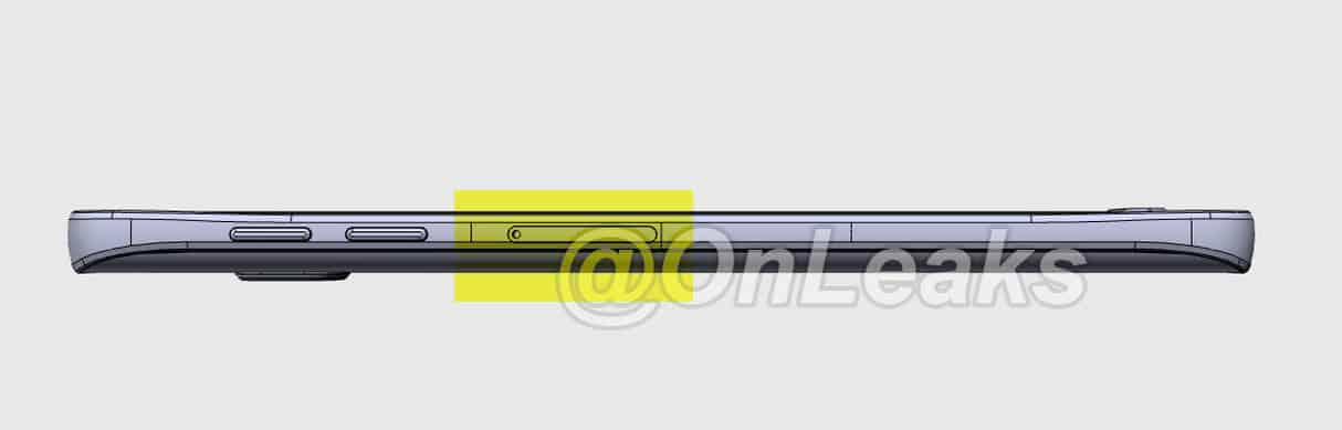 Galaxy Note 5 Side View CAD