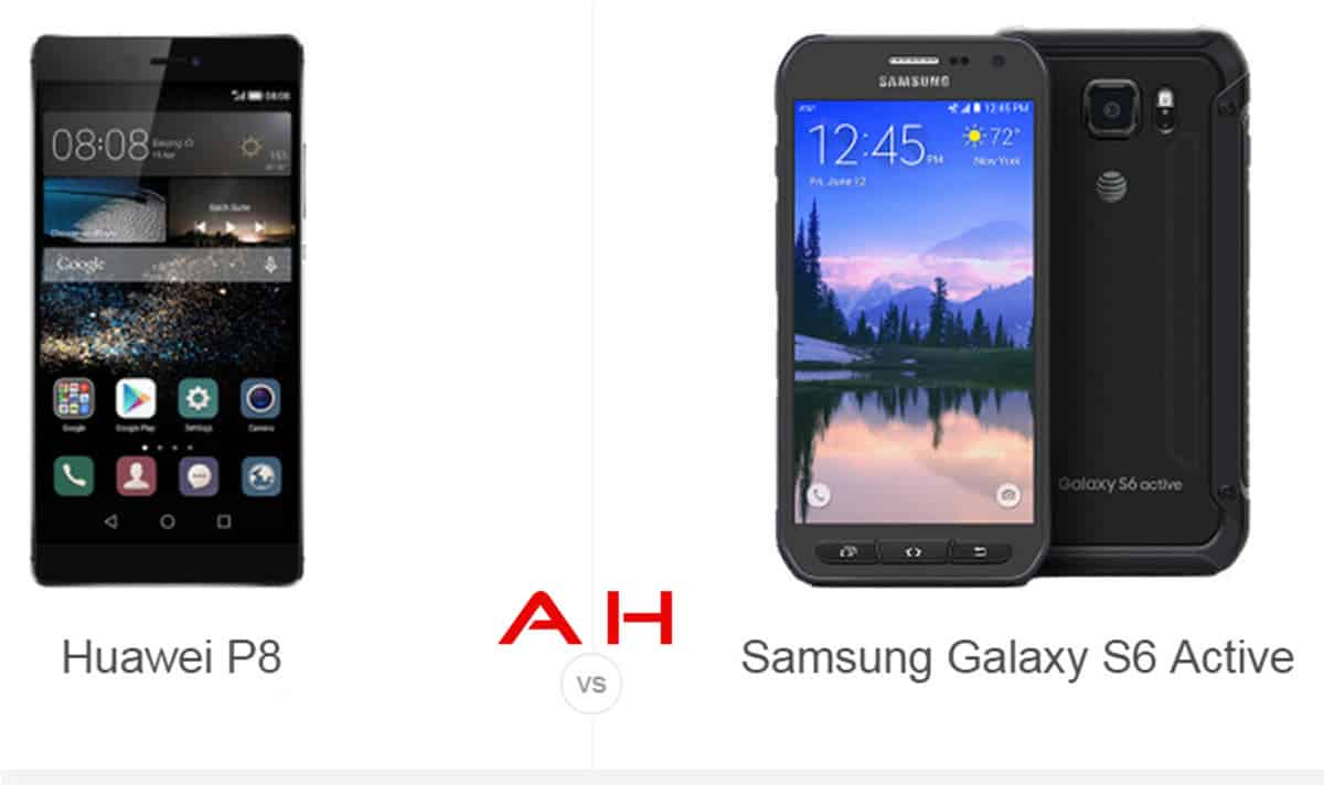 Huawei P8 vs Galaxy S6 Active cam AH