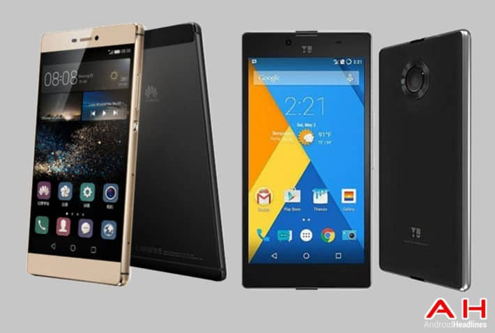 Phone Comparisons: Huawei P8 vs Yu Yuphoria