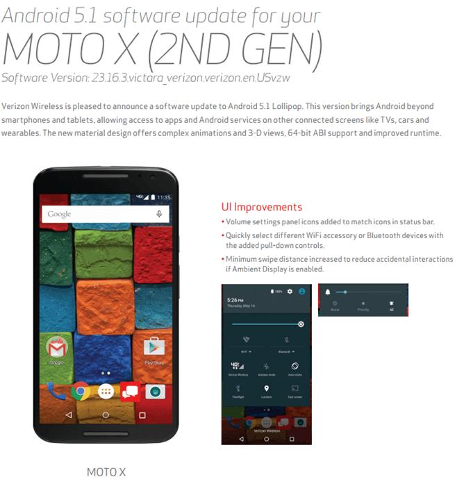 Moto X 2014 Verizon