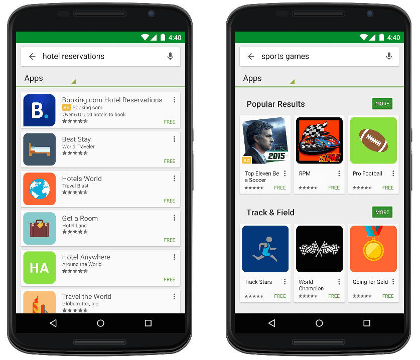 Play Store Search Ads