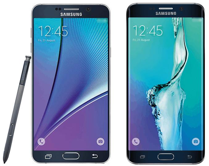 Samsung Galaxy Note 5 S6 edge Press Render