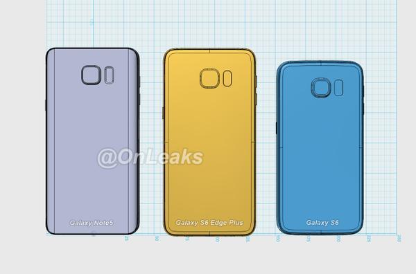 Samsung note 5, s6+ onleaks 3