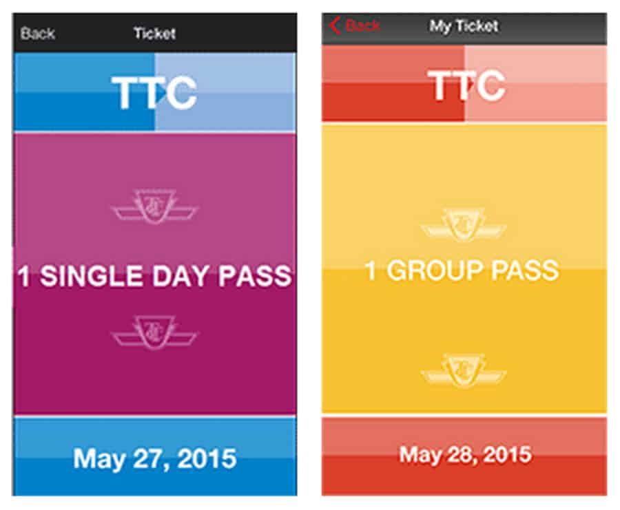 TTC Day Pass in Canada