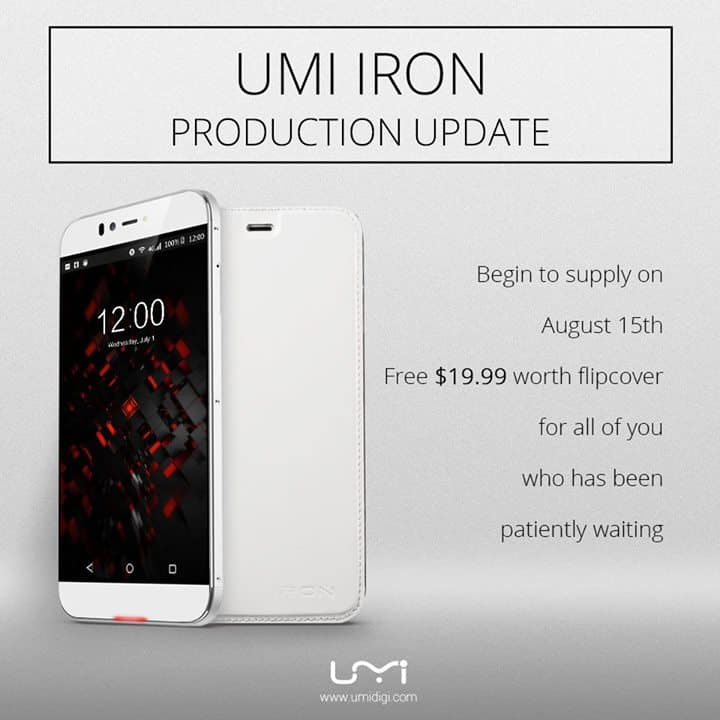 UMi Iron production update 1