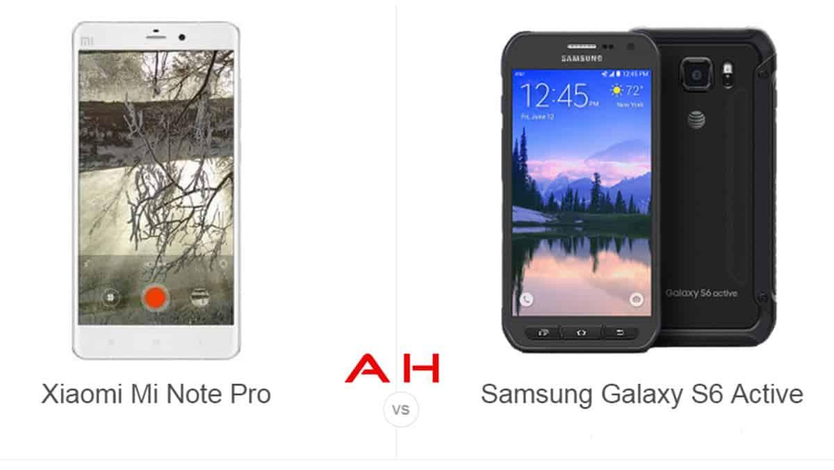 Xiaomi Mi Note Pro vs Galaxy S6 Active cam AH