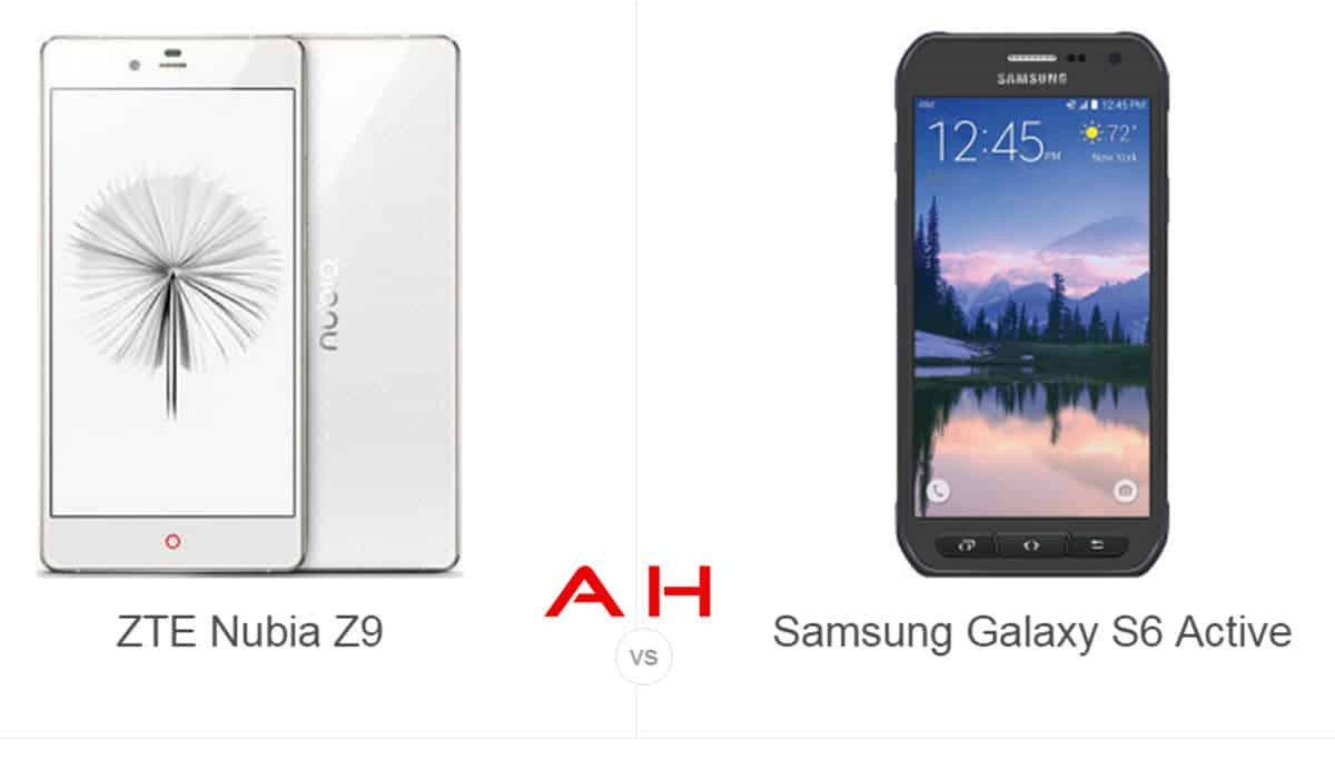 ZTE Nubia Z9 vs Galaxy S6 Active cam AH