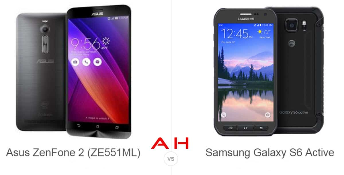 ZenFone 2 vs Galaxy S6 Active cam AH