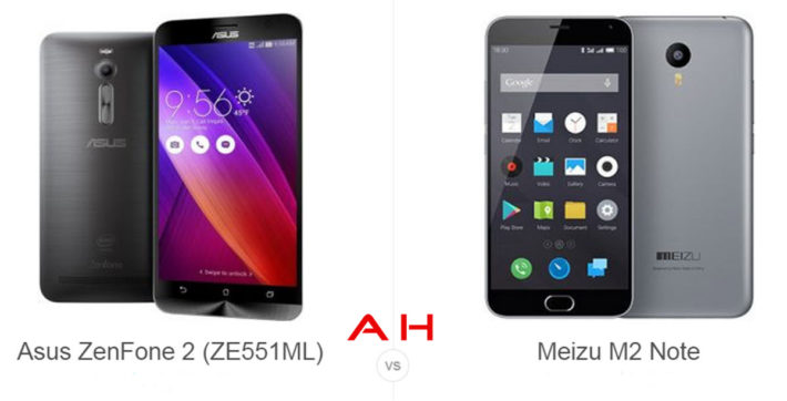 Phone Comparisons: ASUS ZenFone 2 vs Meizu M2 Note
