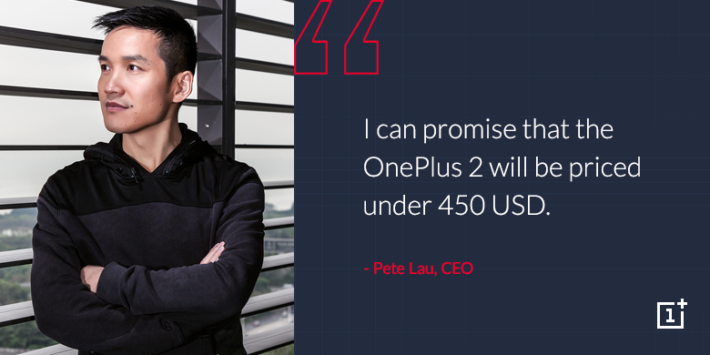 OnePlus 2 to cost less than $450 USD, Says CEO