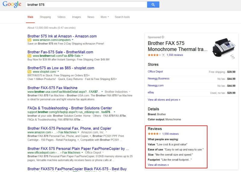 what people are saying reviews snippets google knowledge panel 800x570