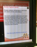 Android Pay McDonalds Notice
