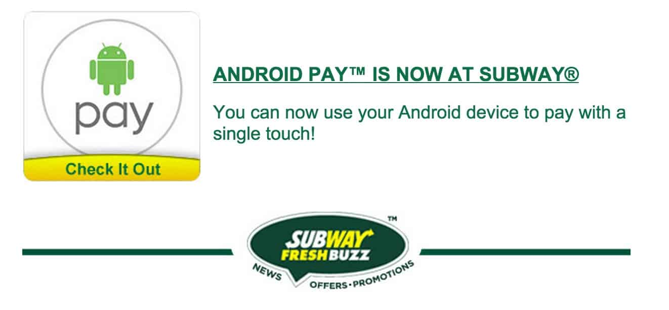 Android Pay Subway leak