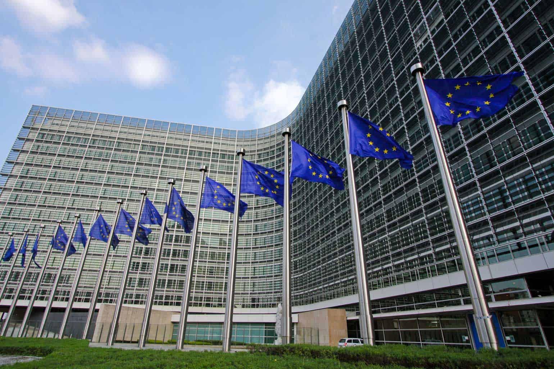 European Commission flags 1