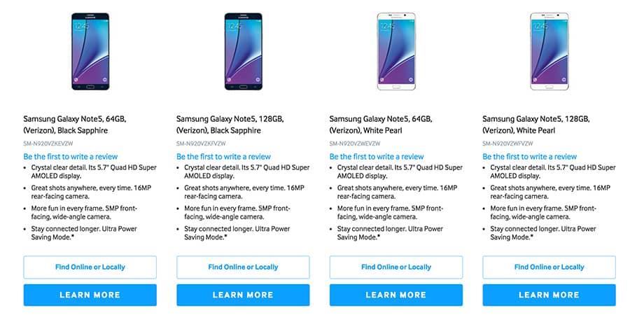 Galaxy Note 5 128 GB KK
