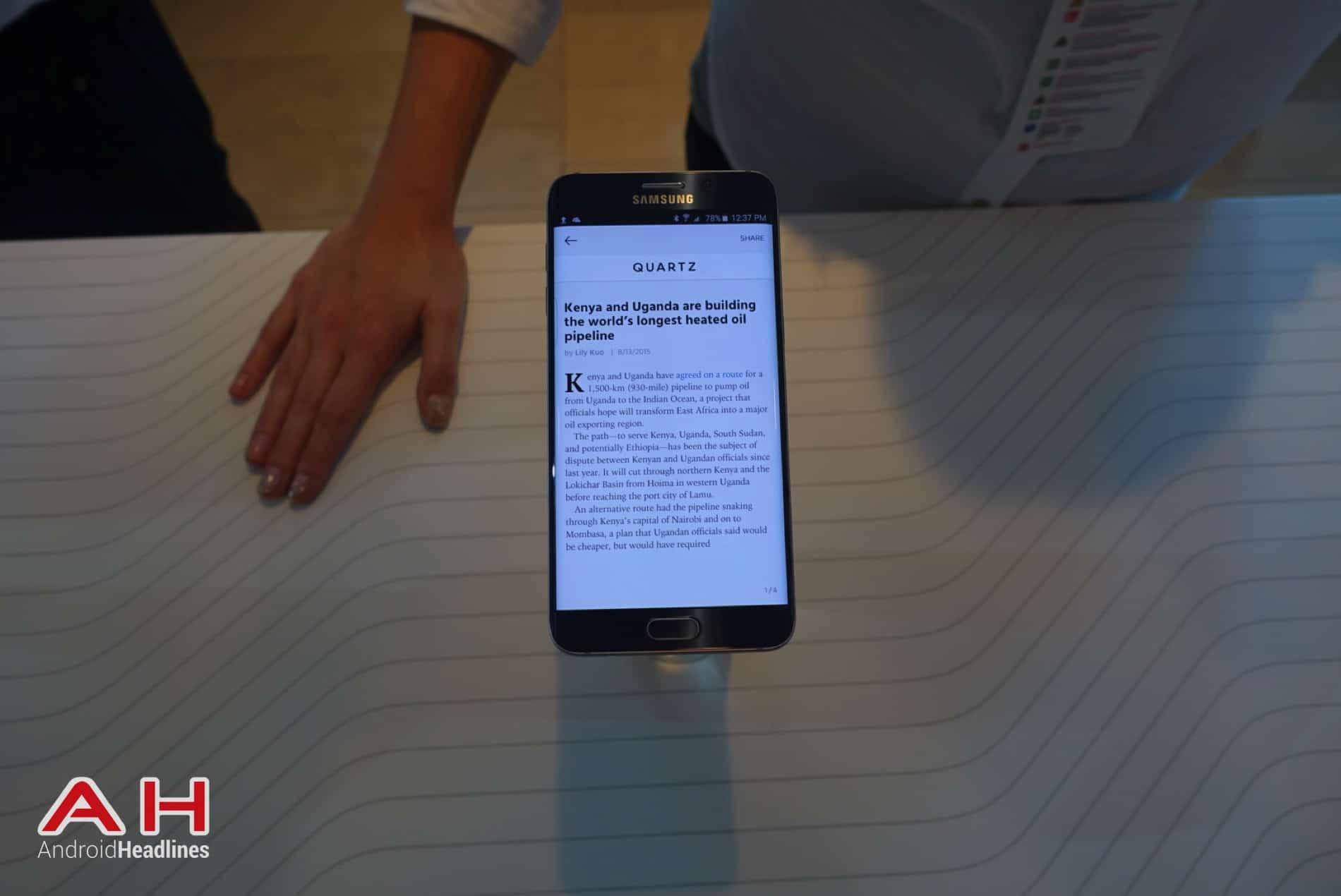 Galaxy S6 Edge Hands On AH 37