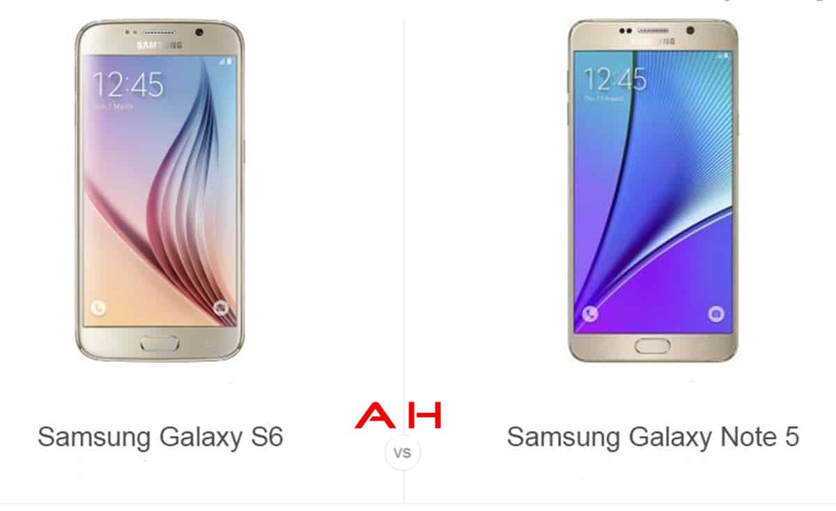 Galaxy S6 vs Note 5 cam AH