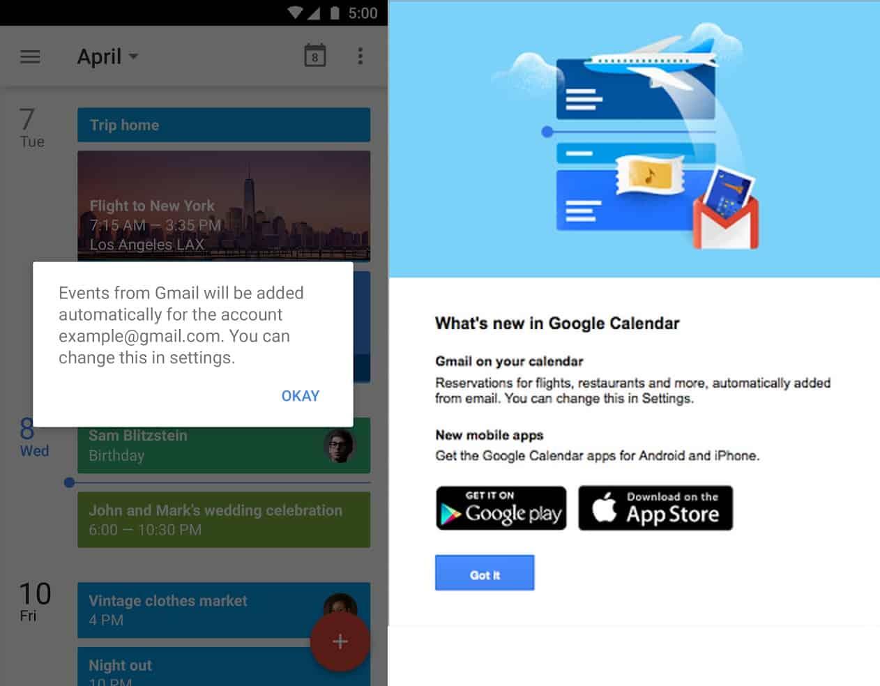 Google gmail calendar 2