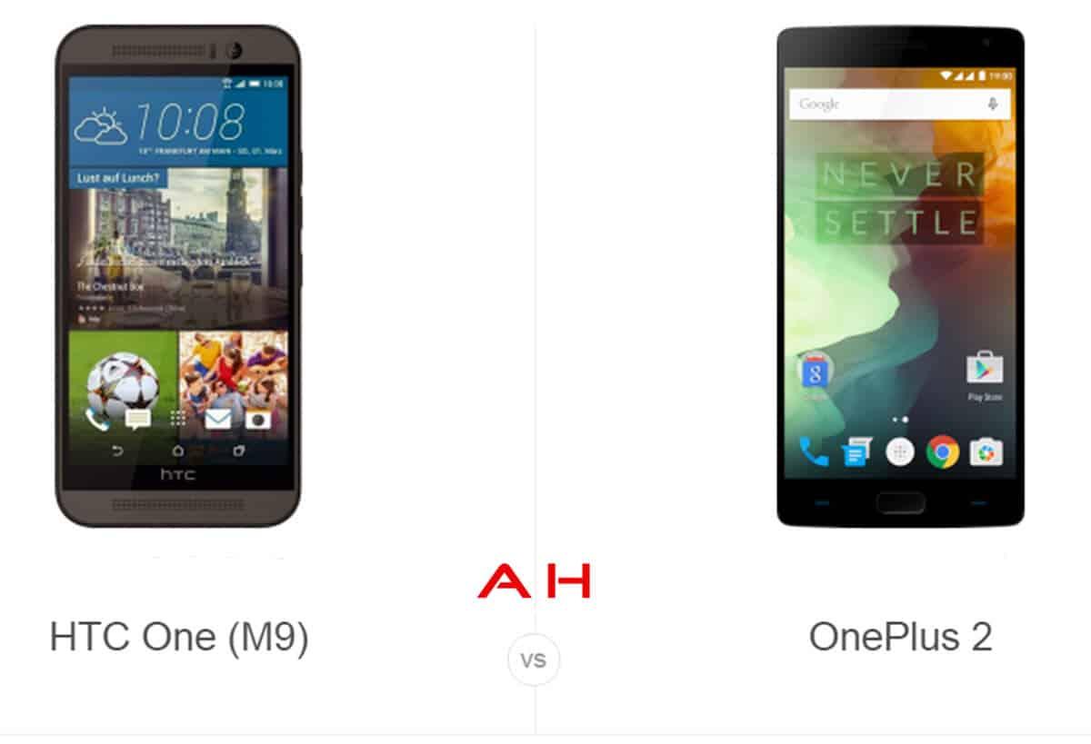 HTC One M9 vs OnePlus 2 cam AH