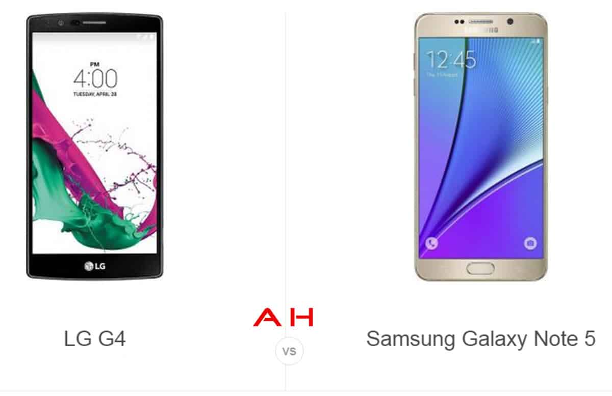 LG G4  vs Note 5 cam AH