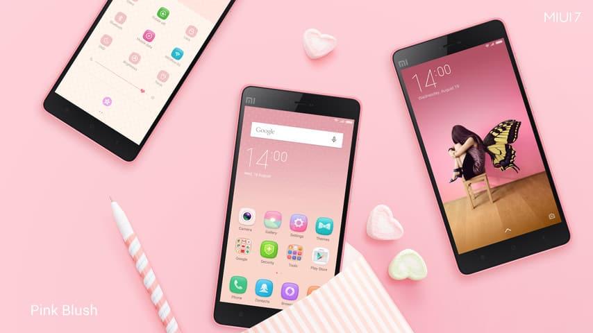 MIUI 7 Theme Pink Blush 1