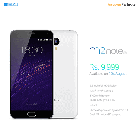 Meizu M2 Note India KK