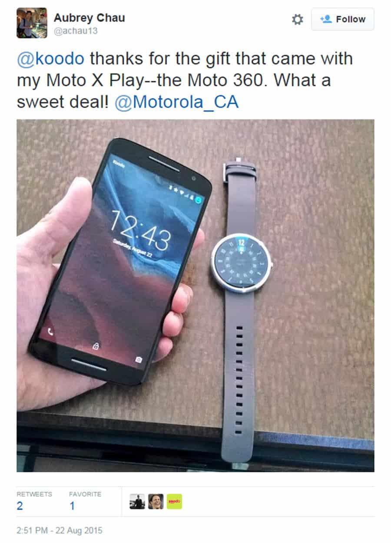 Moto X Play Moto 360 Sale 2