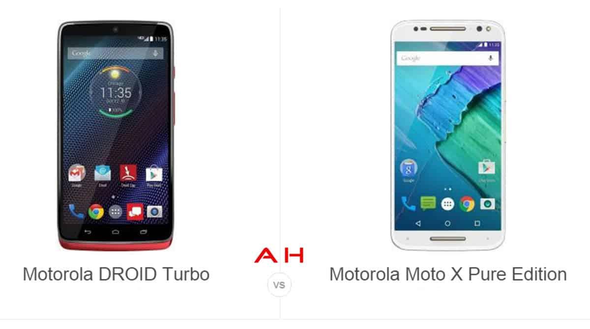 Motorola DROID Turbo vs Moto X Pure Edition cam AH