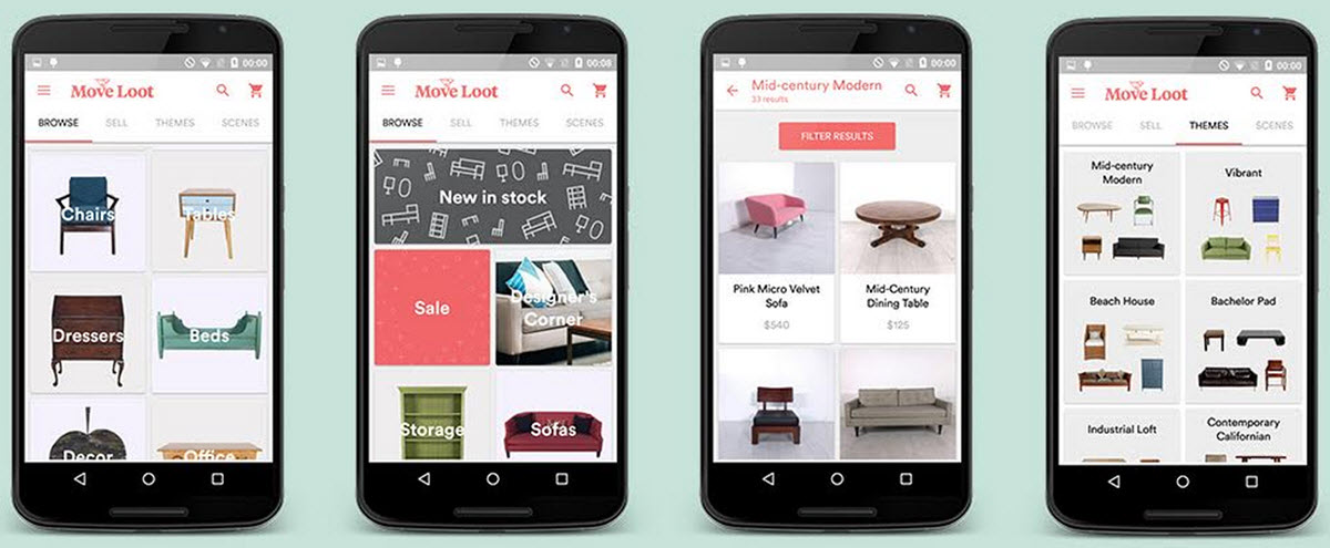 buy and sell furniture with move loot android app
