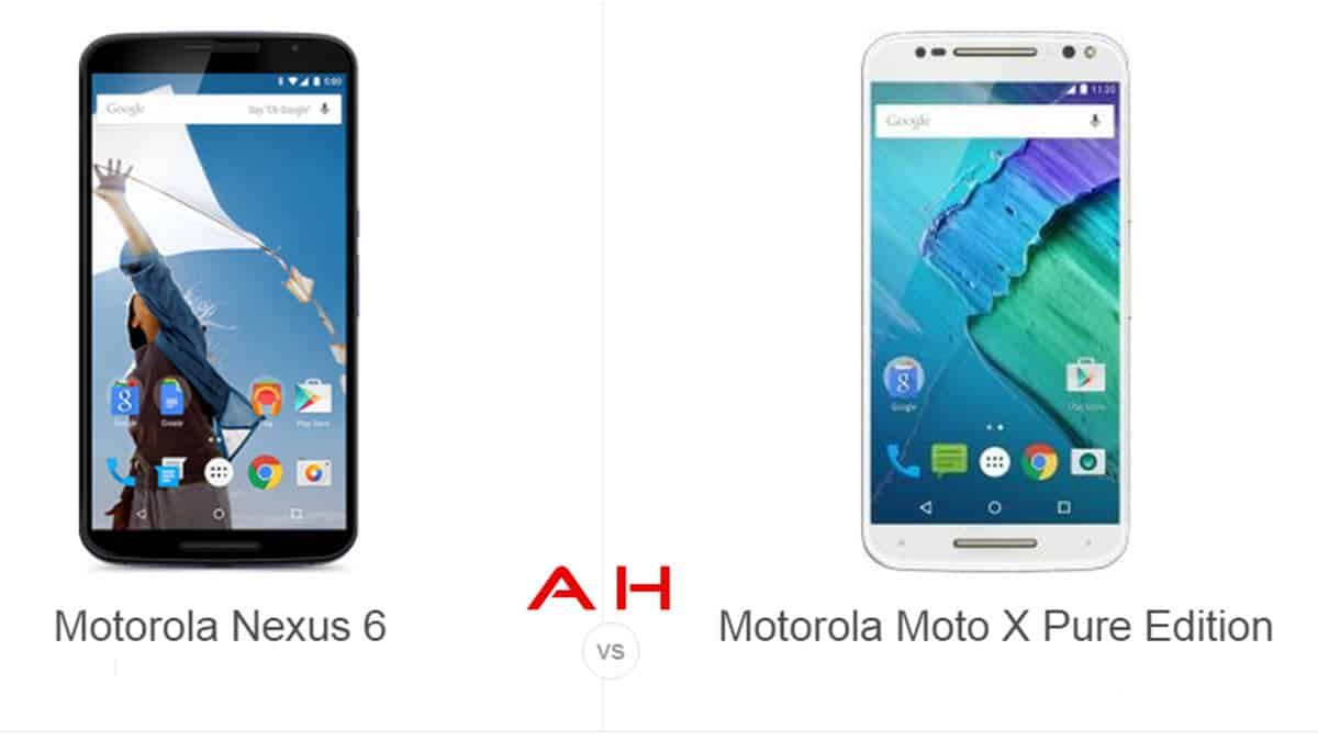 Nexus 6 vs Moto X Pure Edition cam AH