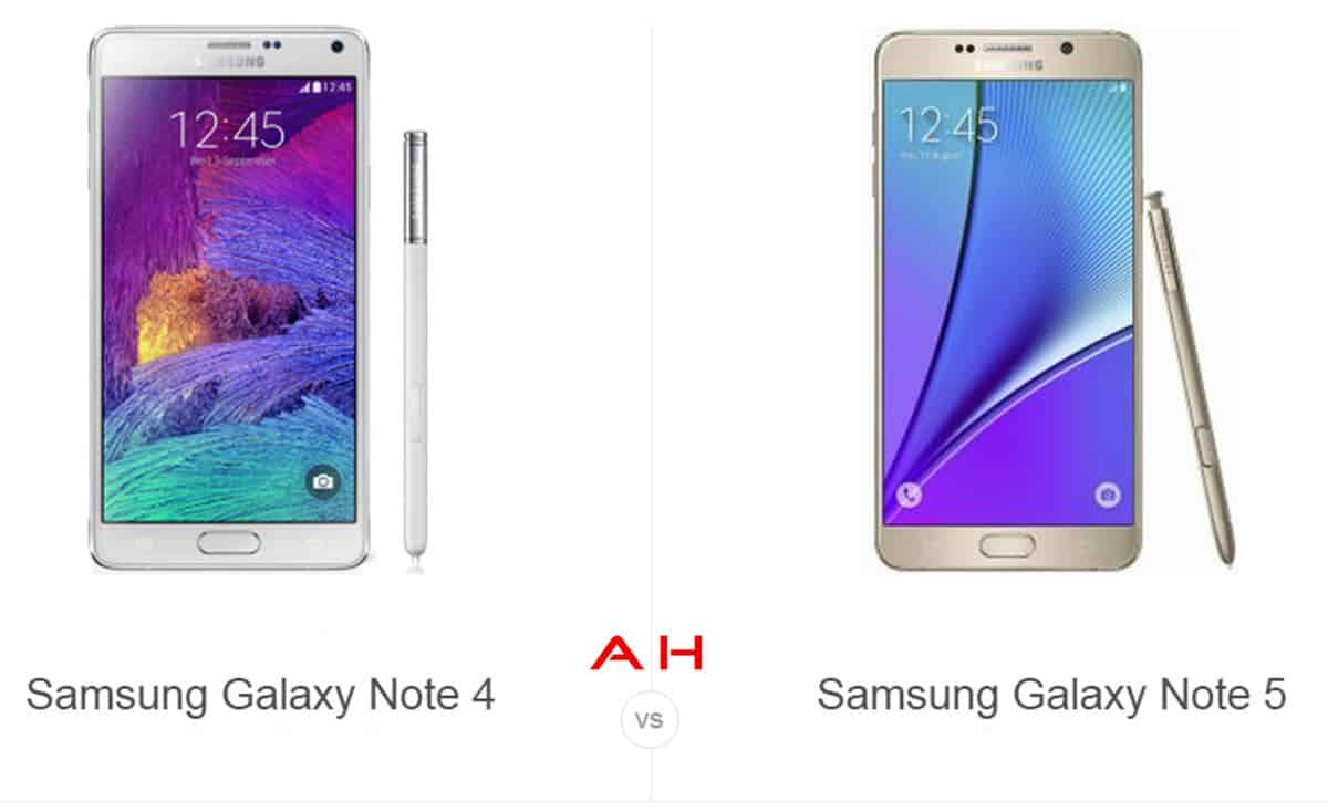 Note 4 vs Note 5 cam AH