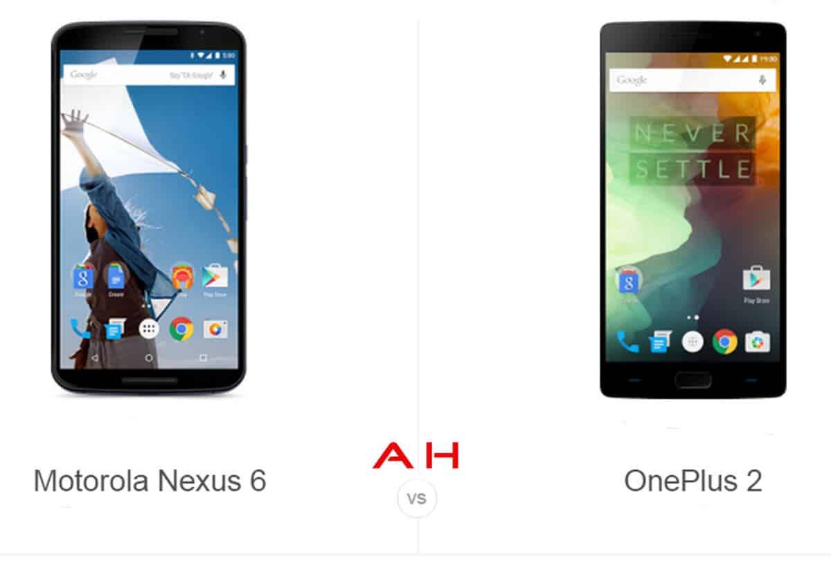 OnePlus 2 vs Nexus 6 cam AH