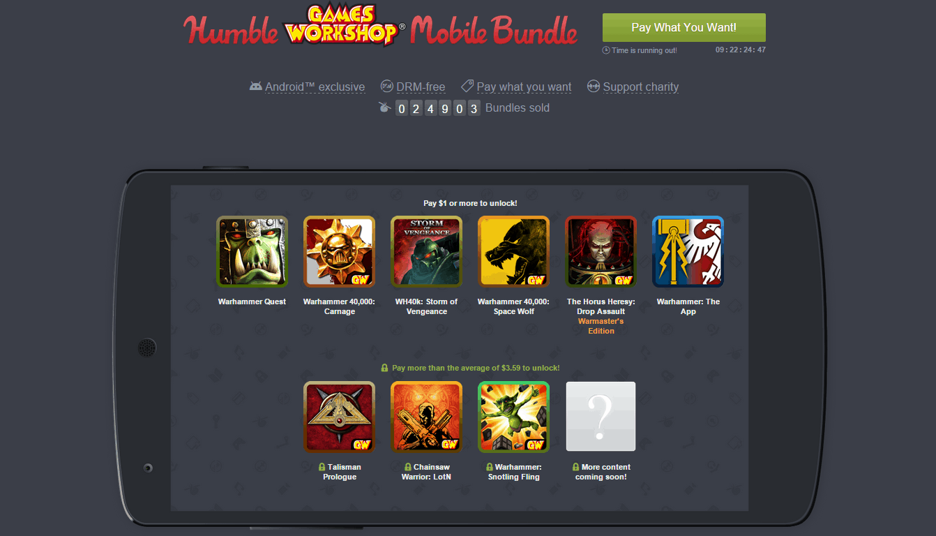 Humble Games Workshop Mobile Bundle