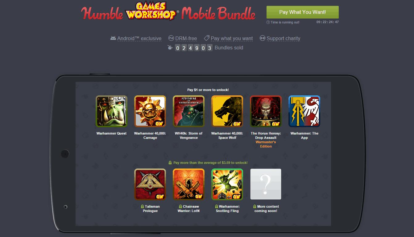 Humble Games Workshop Mobile Bundle