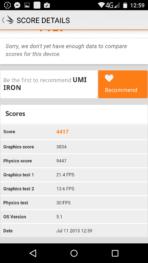 UMI Iron review benchmark 5