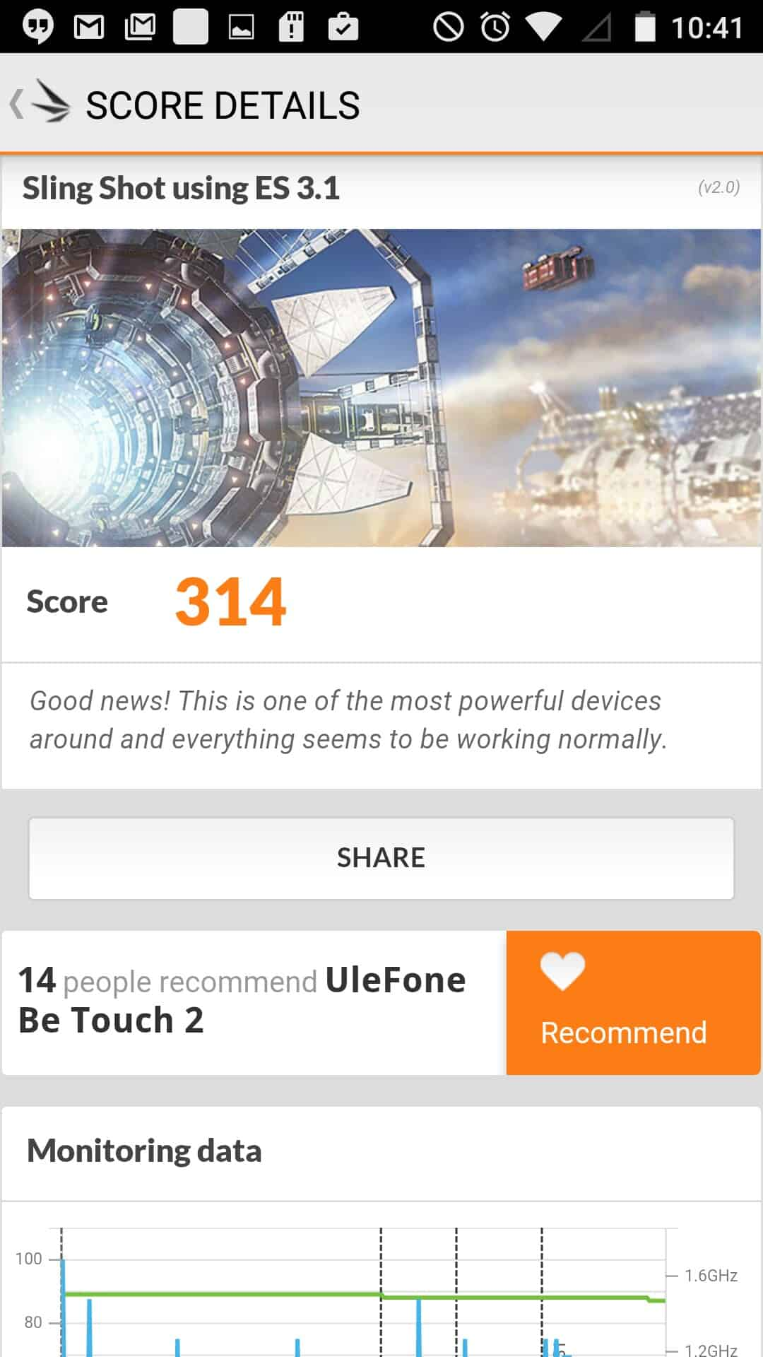 Ulefone Be Touch 2 Benchmarks 9