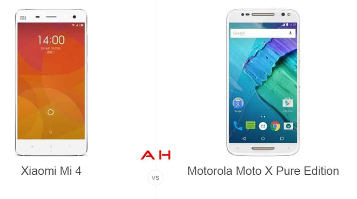 Xiaomi Mi 4 vs Moto X Pure Edition cam AH