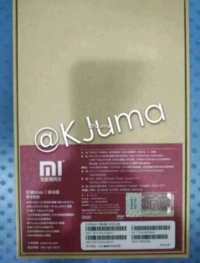 Xiaomi Redmi Note 2 leak 2 KK