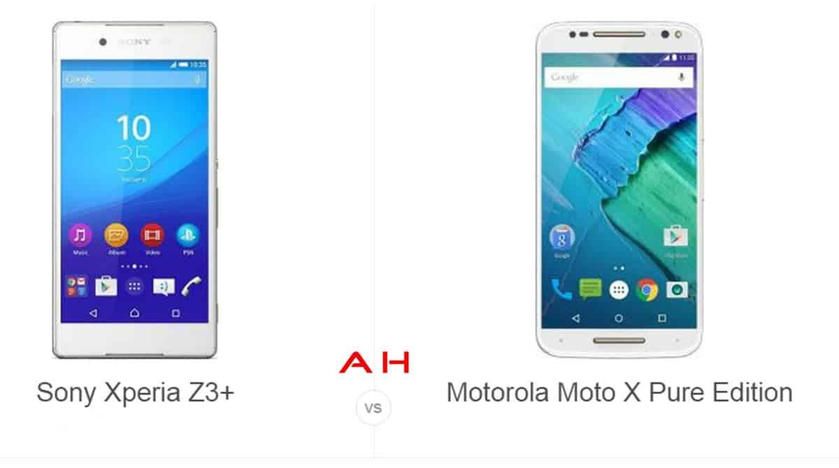 Xperia Z3+ vs Moto X Pure Edition cam AH