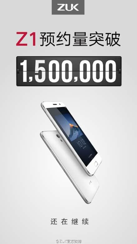 ZUK Z1 1,5 million registrations_1