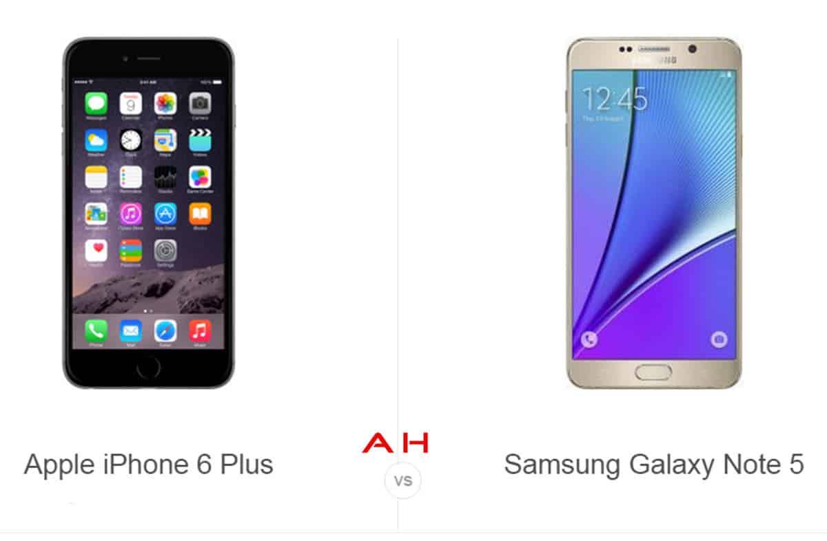 iPhone 6 Plus vs Note 5 cam AH