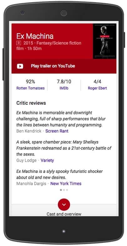 reviews Google Now