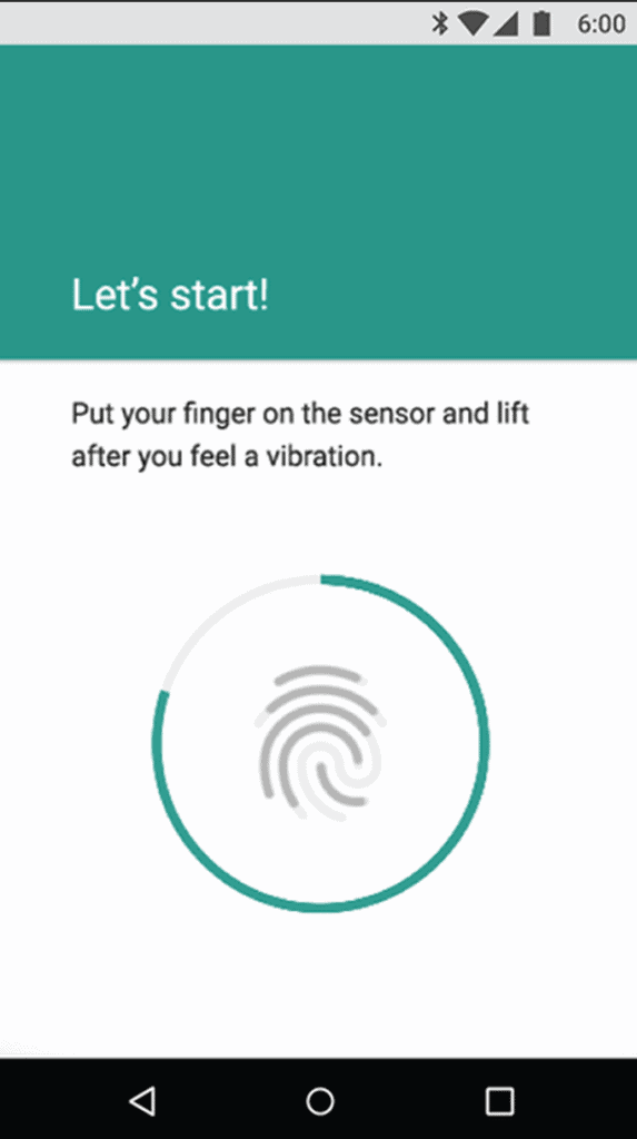 Fingerprint G Screen
