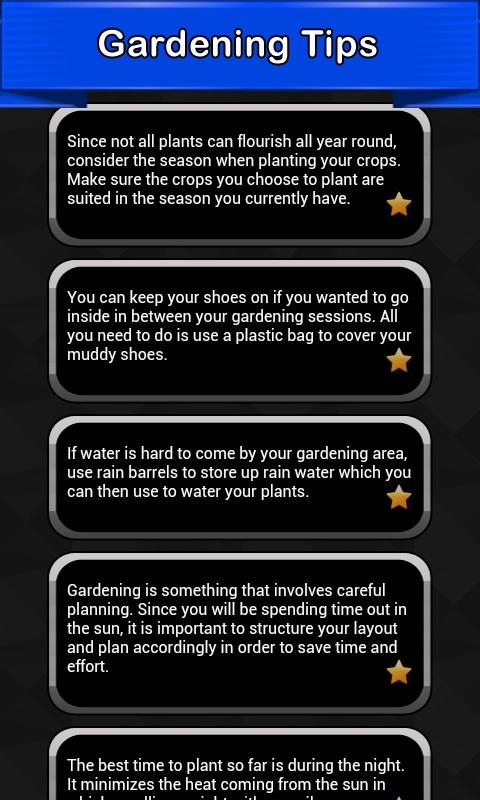 Gardenin tips
