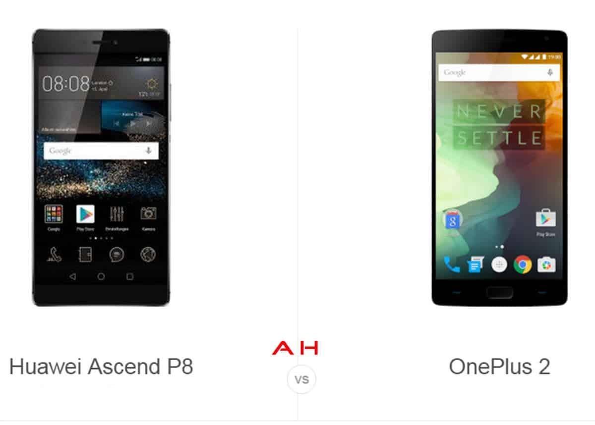 Huawei P8 vs OnePlus 2 cam AH