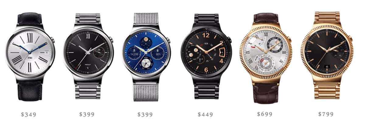 Huawei Watch - All Six Models